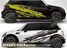 Mini Rally 007 racing shredded  graphics stickers decals vinyl