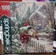 Springbok 1000 Piece Cardinal Christmas Puzzle 34-10857 - Brand New, Sealed