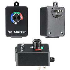 NEW Variable Fan Speed Controller Hydroponics Inline Exhaust Duct AC 120V 3A