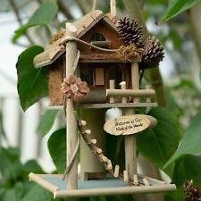 Large 12'' Treehouse Birdhouse feeder Hanging Garden Nest Bluebird Nesting decor