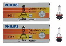 2x Philips H11 High Quality Vision 12362 Halogen Light Bulb Lamp Low High Beam
