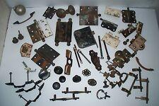 Huge 55 piece lot of Antique & Vintage Door Hinges, Door Hardware, Drawer Pulls