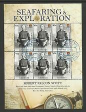 KIRIBATI 2009 SEAFARING ROBERT FALCON SCOTT Antarctic Explorer Sheet 6v USED/CTO