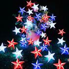 American Flag Stars String Lights with Remote Timer, 10Ft 40Led USA Patriotic