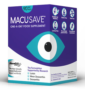 Macu-SAVE Vision Eyesight One-A-Day Meso-Zeaxanthin Food Supplement 90 Capsules