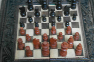 """Nice Wooden Chess Board Set Game 16"""" x 16"""" Inches Wide"""