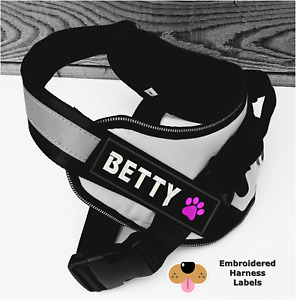 2 Personalised Dog Harness Labels (tags patches) to fit the julius k9 harness