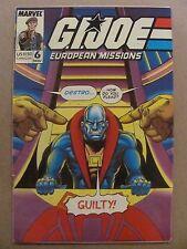 GI Joe European Missions #6 Marvel Comics 1988 Series