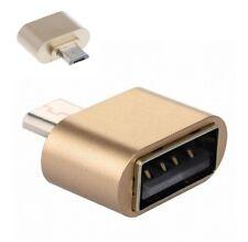 USB OTG Adapter Host Micro USB B Stecker auf Typ A Buchse Konverter Gold