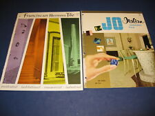 Ceramic Tile Catalog 2 Lot Jo-Gresite Retro Planning Mosaic Franciscan Hermosa