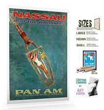 NASSAU BAHAMAS 002 VINTAGE TRAVEL POSTER