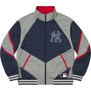 Supreme x New York Yankees Track Jacket - Navy - Size Large - FW21