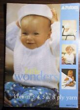 """Patons Nursery Knits knitting Pattern book no. 1146 sizes 3 months - 18 months"""""""