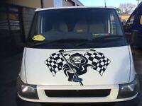 XLARGE grim reaper skull  car bonnet side vinyl stickers graphic decal wall art