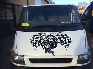 X LARGE grim reaper skull  car bonnet side vinyl stickers graphic decal wall art