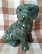 "Park Rose Bridlington Ceramic Dog Figurine in two shades of green 18cm (7"") tall"