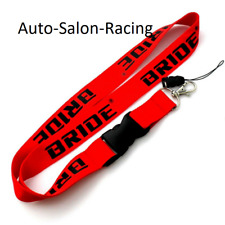 For JDM BRIDE RACING Lanyard Neck Cell Phone Key Chain Strap Quick Release RED