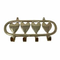 Vintage Brass Wall Hook Hanging Hearts Love Home Decor