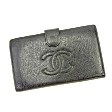 Chanel Wallet Purse Coin purse Black Woman unisex Authentic Used T3640