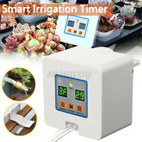Smart Automatic Waterer Drip Irrigation Pump Timer Self Watering Garden Plant UK