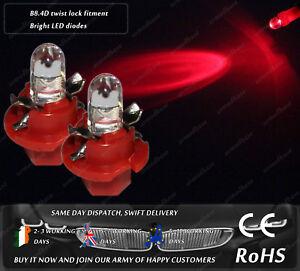 LED Cap B8.4D Red Dashboard Speedometer Instrument Cluster Clocks Light Bulbs
