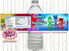 10 PJ MASKS Birthday Party WATER BOTTLE LABEL Favors