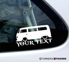 Custom Text ,LOW Volkswagen (type2) T2 Camper Van, Bay-Window vw Sticker