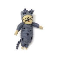 *SPECIAL* One (1) piece Guatemalan Grey Cat Wish Doll / Worry Doll