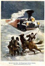 Después del lejano oriente. transportzug D. sibir. ferrocarril. documento de imagen de 1905
