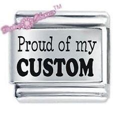 JSC Personalised Custom Made Italian Charm PROUD OF MY