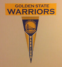"Golden State Warriors FATHEAD Lot/2 Graphics (Pennant 23"" x 8"" & Banner 23""x 5"")"
