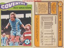 058 RAY GRAYDON # ENGLAND MANCHESTER CITY.FC CARD PREMIER LEAGUE TOPPS 1978