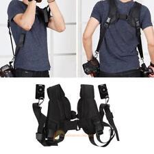 Quick Rapid Double Dual Shoulder Sling Belt Strap F 2 DSLR Digital Camera Black