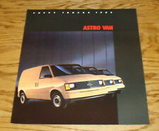 Original 1985 Chevrolet Astro Van Sales Brochure 85 Chevy