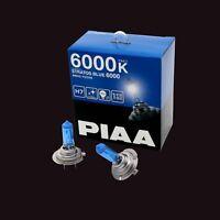 HZ506 PIAA H7 STRATOS BLUE 6000 HEADLIGHT BULBS (x2) 6000K XENON EFFECT 100W