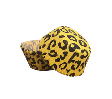 50 PC Yellow and Black Leopard/ Animal Print Cupcake Wrappers Set