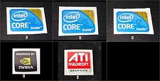 Laptop Notebook stickers - Intel inside Core i3 i5 i7 , Nvidia , ATI Radeon