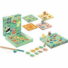 DJECO Ludo Park - 4 Games Magnetspielzeug Kinderspielzeug Lernspielzeug