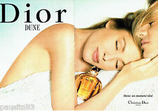 PUBLICITE ADVERTISING 016  1996  DIOR  parfum DUNE  (2p)