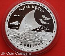 2007 Islas Salomón Barcos De Fiji Ndrua 1oz lucha legendaria Plata Moneda De $25