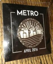 LOOT CRATE APRIL 2016 METRO PIN RARE AUTHENTIC GAMING VIDEOGAME COLLECTIBLE