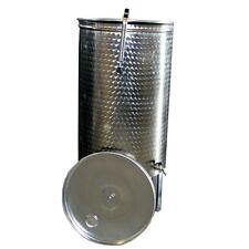 Botte per vino in acciaio inox da 500 litri con galleggiante pneumatico ad aria