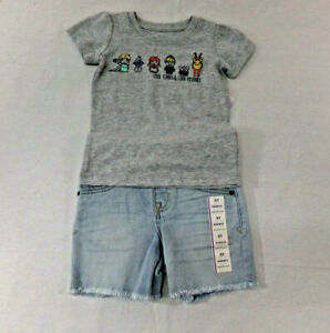 NWT Girls Disney Frozen T-Shirt and Cat & Jack Shorts size 2T