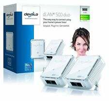 Devolo dLAN 500 Duo Powerline Starter Kit (500 Mbps, 2 x Adaptador PLC HomePlug
