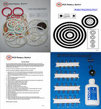 1971 Gottlieb Roller Coaster Pinball Machine Tune-up Kit - Includes Rubber Rings