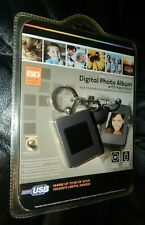 Digital Photo Album Key Chain NIB 8Mb USB Rechargeable PC/MAC Charcoal