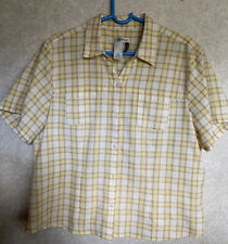 Orvis Women's Plain Button Front Yellow plaid Travel Shirt Passport Size XL
