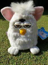 VINTAGE ORIGINAL FURBY BABY BABIES - WHITE - TIGER ELECTRONICS 1999 TESTED TAGS