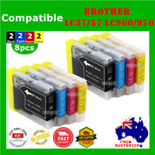 8x Ink Cartridges LC960 LC970 LC37 LC57 For Brother DCP 330 350 560CN MFC 465CN