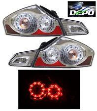 LED Tail Lights CHROME DEPO For 07-13 Infiniti G35 G37 11-12 G25 2015+ Q40 SEDAN
